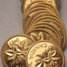 INCREDIBLE PROOF ROLL(20) OF 1968 CANADIAN CENTS~FREE SHIPPING~WE HAVE CANADIAN~