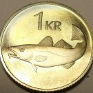 Rare Proof Iceland 1981 Krona~Only 15,000 Minted~Cod Fish~We Have Proofs~Fr/Ship