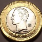 Gem Unc Venezuela 2007 1 Bolivar~Bi-Metal~Minted In Maracay~Free Shipping