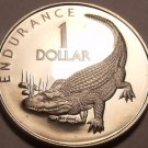 Extremely Rare Proof Guyana 1979 F.A.O Dollar~Caiman~Only 3,547 Minted~Free Ship