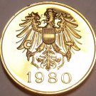 AUSTRIA 1980 PROOF SET MEDALLION~EXCELLENT~FREE SHIP~