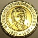 Gem Unc Bi-Metal Ecuador 1997 1,000 Sucres~70th Anniversary Central Bank~Free Sh