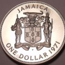 MASSIVE PROOF JAMAICA 1971 DOLLAR~PROOFS R BEST~FREE SH