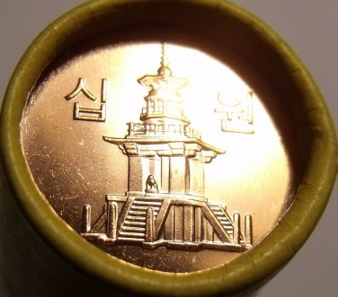 Gem Unc Roll South Korea 2014 10 Won~Dabotab The Pagota Of Many Trearures~Fr/shi