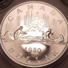 Proof Canada 1980 Voyageur Dollar~See Why Proofs Are Best Coins~Free Shipping