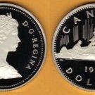 BLAST WHITE CAMEO CANADA 1987 CANOE DOLLAR~~FREE SHIP~~