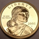 United States 2005-S Sacagawea Cameo Proof Dollar~Free Shipping