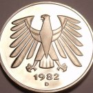 Gem Cameo Proof Germany 1982-D 5 Marks~Eagle With 14 Feathers~78k Minted~Free Sh