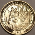 1848~GOLD DISCOVERED IN CALIFORNIA~WAR ENDS WITH MEXICO~BRONZE PROOF~FREE SHIP~