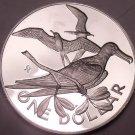 Massive Silver Proof British Virgin Islands 1974 Dollar~Only 94,000 Minted~Fr/Sh