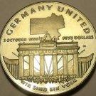 Massive Gem Unc Marshall Islands 1990-M 5 Dollars~Germany Unification~Free Ship