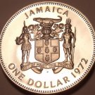 MASSIVE PROOF JAMAICA 1972 DOLLAR~COLLECT PROOFS~FREE SHIPPING~