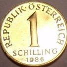 PROOF AUSTRIA 1986 1  SCHILLING~CHECK R STORE~FREE SHIP