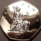 Scarce Proof Great Britain 1974 50 Pence~100,000 Minted~We Have Proofs~Free Ship