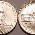 2007-P GEM UNCIRCULATED JEFFERSON HEAD NICKEL~FREE SHIPPING~SEE OUR UNC COINS~