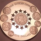Massive Gem Unc Liberia 2004 5 Dollars~The New Vatican Coins~Free Shipping
