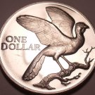 MASSIVE PROOF TRINIDAD & TOBAGO 1973 DOLLAR~COERICO BIRD~FREE SHIP~~
