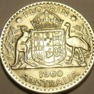 Huge Unc Silver Australia1960 Florin~Minted In Melbourne~Free Shipping