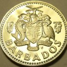 PROOF BARBADOS 1975 25 CENTS~SUGAR MILL~FREE SHIPPING~WE HAVE PROOF COINS~