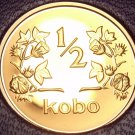 Rare Proof Nigeria 1973 Half Kobo~1st & Only Year In Proof~10k Minted~Free Ship