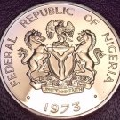 Rare Proof Nigeria 1973 5 Kobo's~1st & Only Year In Proof~Cocoa Beans~Free Ship