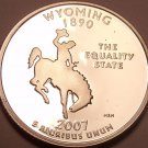 Cameo Proof 2007-S Wyoming State Quarter~We Have Every State Quarter~Free Ship~