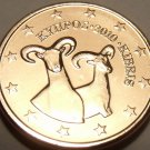 Gem Unc Cyprus 2010 1 Euro Cent~Double Rams~We Have unc Coins~Free Shipping