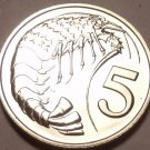 PROOF CAYMAN ISLANDS 1975 5 CENTS~PRAWN~FREE SHIPPING~