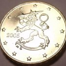 AWESOME FINLAND 2005 10-EURO CENTS~STANDING LION~FR/SH