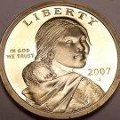 United States 2007-S Sacagawea Cameo Proof Dollar~Free Shipping