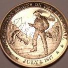 1817~WORK STARTS ON ERIE CANAL~ERA OF GOOD FEELINGS~FRANKLIN BRONZE~FREE SHIP~