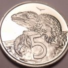 Gem Cameo New Zealand 1979 5 Cents~See Why Proofs R Best~16,000 Minted~Free Ship