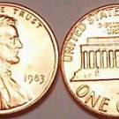 1983-P BRILLIANT UNCIRCULATED LINCOLN CENT~~FREE SHIP~~