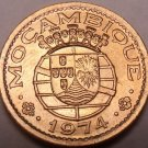 Rare Gem Unc Mozambique 1974 20 Centavos~Last Year Ever Minted~Free Shipping