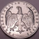Large Au-Unc Germany 1922-A Weimar Republic 3 Mark Coin~3rd Anniversary~Free Shi