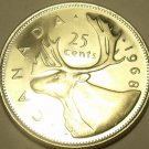 SUPER PROOF CANADA 1968 25 CENTS~WE HAVE CANADIAN PROOFS~FREE SHIP~