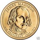UNC JOHN MADISON 2007-P PRESIDENTIAL DOLLAR~FREE SHIP