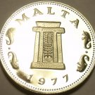 RARE PROOF MALTA 1977 5 CENTS~6,884 MINTED~TEMPLE OF HAGAR QIM~FREE SHIPPING~