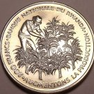 Huge Rare Unc Silver Rwanda 1972 F.A.O. 200 Francs~10th Anniv of Independence~FS