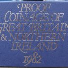 1982 GREAT BRITAIN 8 PIECE PROOF SET IN ORIGINAL PACKAGE WITH PAPERWORK~FREE SHI