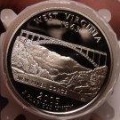 Gem Cameo Roll (40 Coins) 2005-S Proof West Virginia State Quarters~Free Ship~