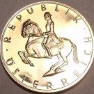 CAMEO PROOF AUSTRIA 1986 5 SCHILLING~FANTASTIC~FREE SHIPPING~HORSEMAN~