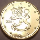 Gem BU Finland 2001 10 Euro Cents~Standing Lion~We Have Finland Coins~Free Ship