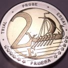 Rare Sweden 2003 Bi-Metal 2 Euros~Essai Trial Preuba Pattern Proof~17K Minted~FS