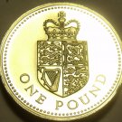 Gem Cameo Proof Great Britain 1988 Pound~125,000 Minted~Edge Inscription~Free Sh