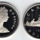 1981 CANADA PROOF CANOE/VOYAGEUR DOLLAR~CAMEO~FREE SHIPPING~