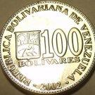 Gem Unc Venezuela 2002 100 Bolivares~Free Shipping*