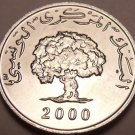Gem Unc Tunisia 2000 F.A.O. Issue 1 Millim~We Have Unc FAO Coins~Free Shipping