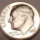 United States 1987-S Proof Roosevelt Dime~Free Shipping~See Our Proof Coins~