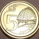 Gem Unc Singapore 2013 5 Cents~Multiply~Theaters On The Bay~Canadian Minted~Fr/S